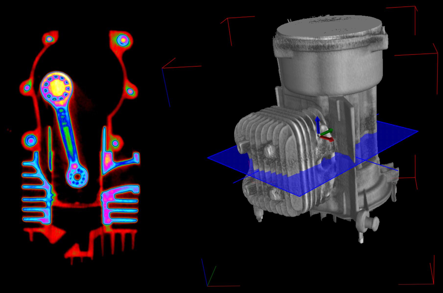 Tomografia wysokoenergetyczna silnika
